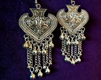 Ace of Spades Bell Earrings