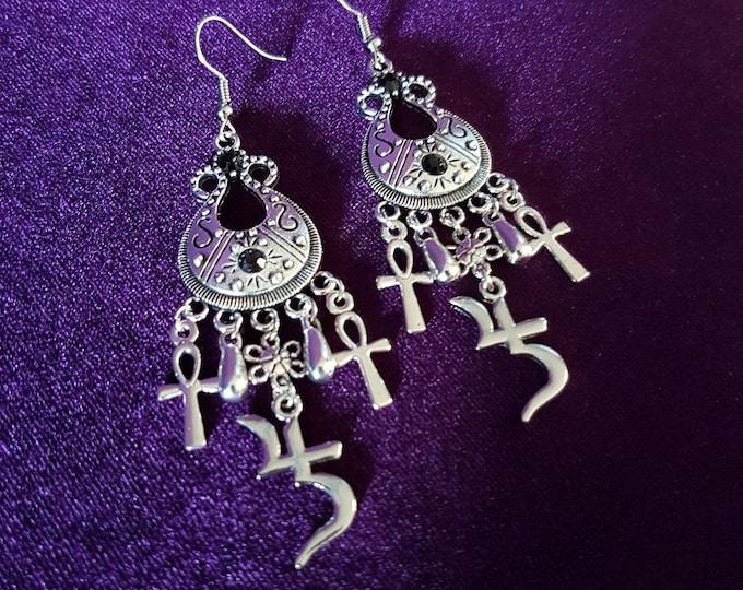 Sopor Aeternus Bard Earrings - Jusa Sigil Sopor Aeternus symbol goth gothic Anna Varney Cantodea Jupiter Saturn