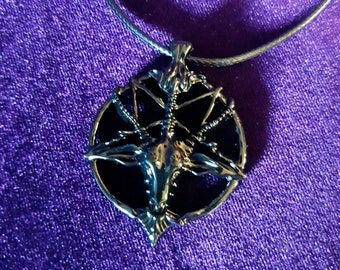 Black Sigil of Baphomet Pendant