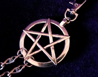 Sigil of Lucifer Pentacle Double Wallet Chain