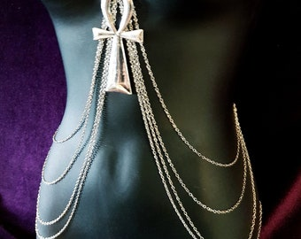 Egyptian Ankh Body Chain Harness