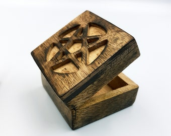 Wooden Pentagram Altar | Jewellery Box