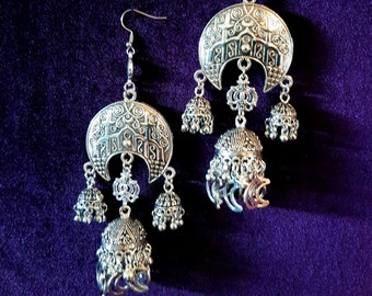 Lunar Crescent Witch Earrings