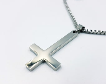 Stainless Steel Inverted Cross