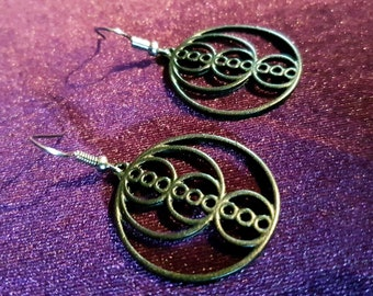 Black Sacred Geometry Golden Ratio Earrings (2 Styles)