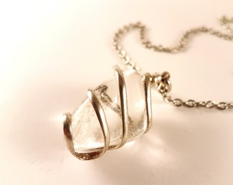 Tumbled Crystal Quartz Necklace