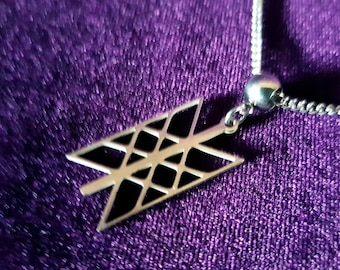 Web of Wyrd (Skuld's net) Pendant (Stainless Steel)