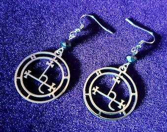 Sigil of Lilith Earrings (Stainless Steel)
