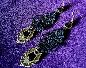 Gothic Vampire Bat Earrings