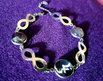 Sopor Aeternus Jusa Infinity Amethyst Bracelet