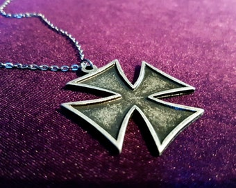 Iron Cross Pendant (Steel)