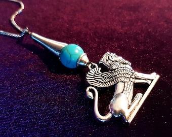 Assyrian Winged Lion (Lamassu) Rear View Mirror Charm (Car Accessory)
