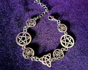 Pagan Pentagram Bracelet