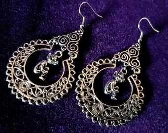Dark Fairy Triskelion Earrings