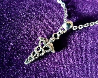 Mini Caduceus Pendant