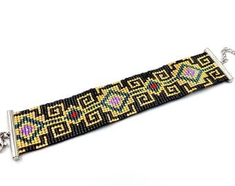 Meander Bracelet (Miyuki Beads - Greek Pattern Inspired)