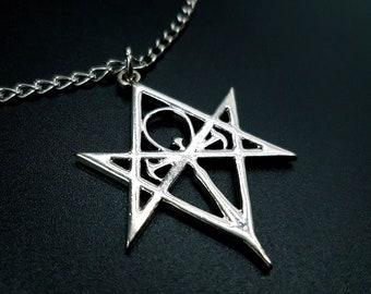 Vampire Ankh Pendant with Hexagram (New Design)