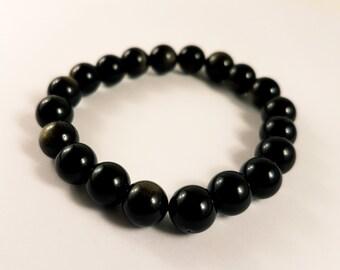 Goldsheen Obsidian Bead Bracelet