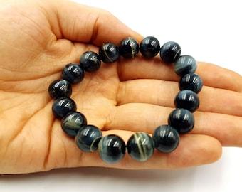 Blue & Gold Tiger Eye Bracelet