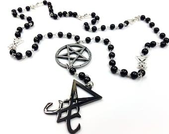 Sigil of Lucifer Rosary (Black Sigil)