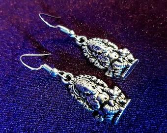 Ganesha Charm Earrings