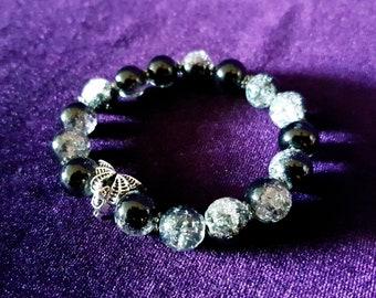 Vampire Bat Bracelet - gothic shiny bead bracelet gothic jewelry store