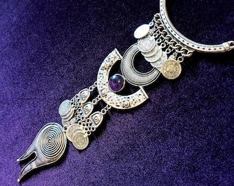 Tribal Vintage Amethyst Necklace