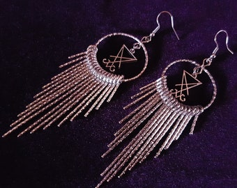 Rays of Light Luciferian Earrings