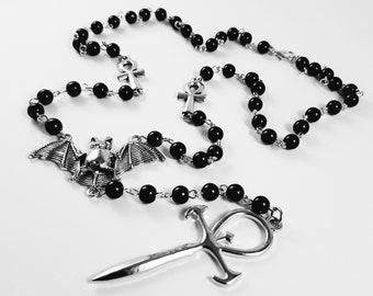 Vampire Ankh Rosary