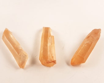 Lemurian Crystal Shards | Hematoid Quartz | Lemurian Crystals (3 different crystals)