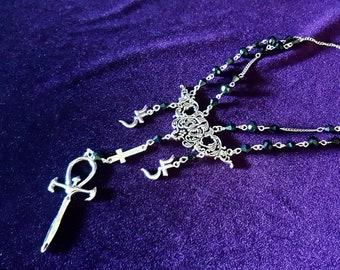 Vampire Ankh Jusa Necklace (Sopor Aeternus Inspired).