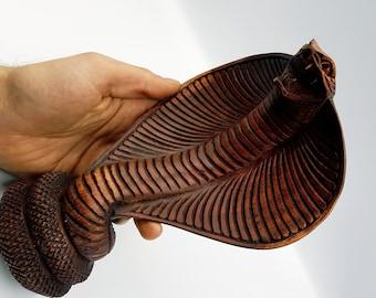 Handcarved Wooden Cobra Statue (Big)