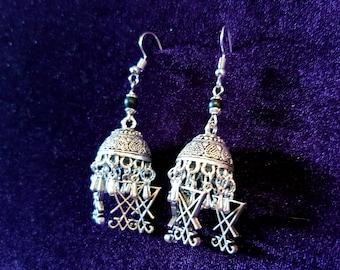Bohemian Luciferian Earrings