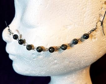 Gemstone Nosechains (5 Styles | Lavastone - Amethyst - Onyx - Hematite - Labradorite )