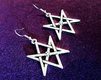 Thelema Hexagram Earrings