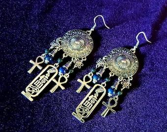 Egyptian Lapis Lazuli Earrings