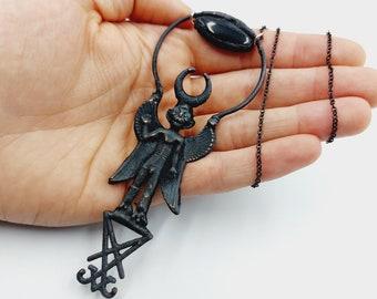 Electroformed Sigil of Lucifer Pazuzu Pendant (Copper)