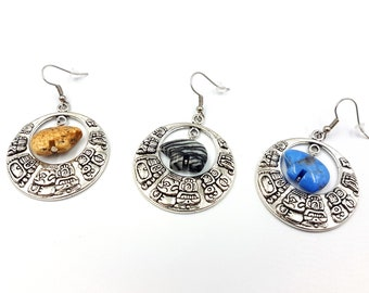 Zuni Bear Fetish Earrings (4 Variations)