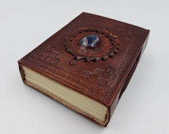 Sodalite Gemstone Leather Journal | Book