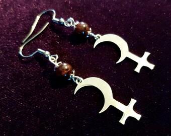 Black Moon Lilith Earrings (Stainless Steel)