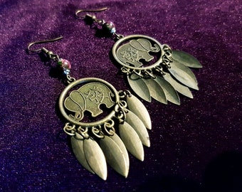 Oriental Leaf Earrings