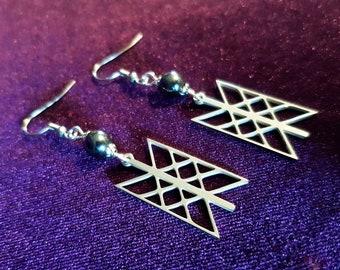 Web of Wyrd (Skuld's net) Earrings (Stainless Steel)