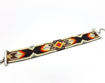 Native American Inspired Bracelet (Miyuki Beads)
