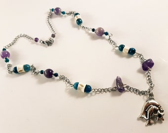 Pisces Gemstone Zodiac Necklace