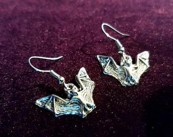 Gothic Bat Earrings (2styles)