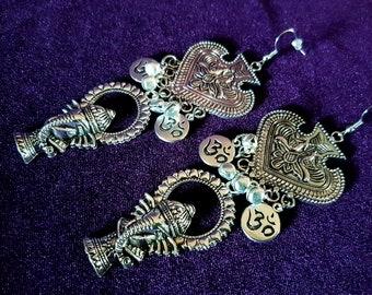 Ganesha Ohm Bell Earrings
