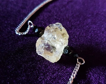 Citrine Gemstone Necklace - Healing crystal chunck succes happiness power
