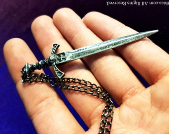 Medieval sword Necklace (Steel)