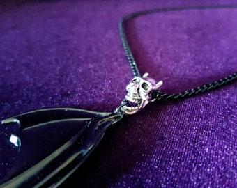 Resin BatWing Skull Pendant