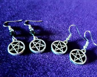 Inverted Pentagram Earrings ( 2 Styles)